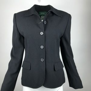 Ralph Lauren Button-up Blazer Jacket Black